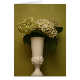 vaso do hydrangea cartão comemorativo