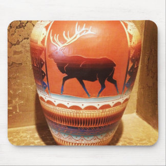 Vaso do sudoeste da arte do nativo americano com a mouse pad