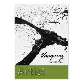 Vasquez - abacate corajoso do ilustrador do pintor cartão de visita grande