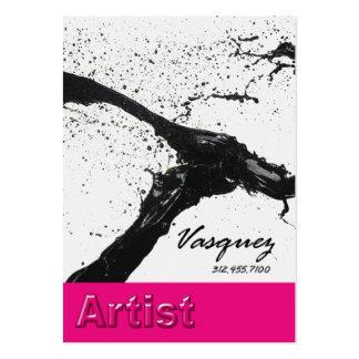 Vasquez - fuschia corajoso do ilustrador do pintor cartão de visita grande