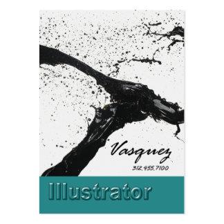Vasquez - pintor corajoso do artista do ilustrador cartão de visita grande