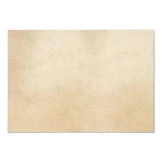 Vazio antigo de papel do modelo do pergaminho do convite 8.89 x 12.7cm