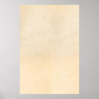 Vazio antigo de papel do modelo do pergaminho do v poster