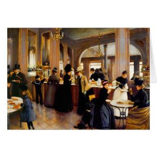 Vazio da loja da pastelaria de Paris do vintage Cartão De Nota