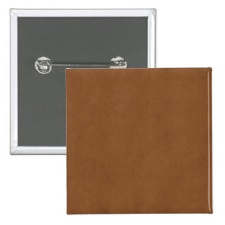 Vazio de couro do papel de pergaminho de Tan Brown Bóton Quadrado 5.08cm