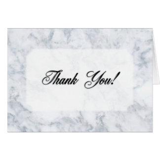 Vazio de mármore dos cartões de agradecimentos
