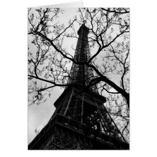 Vazio de Paris da torre Eiffel todos os Cartão Comemorativo