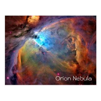 Vazio do cartão da nebulosa de Orion para dentro