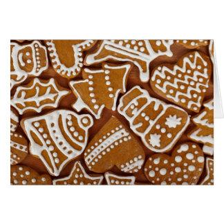 Vazio do cartão de Natal do pão-de-espécie para