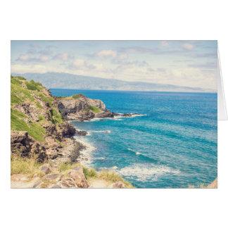 Vazio do cartão de nota da costa | de Maui para