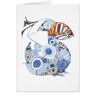 Vazio do cartão de nota do pelicano