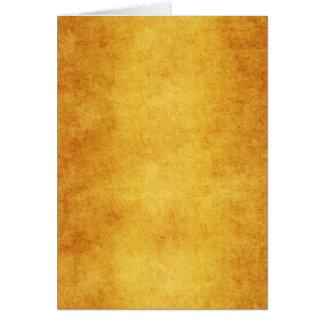 Vazio do modelo do amarelo alaranjado do pergaminh cartão comemorativo