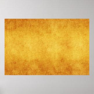 Vazio do modelo do amarelo alaranjado do pergaminh poster