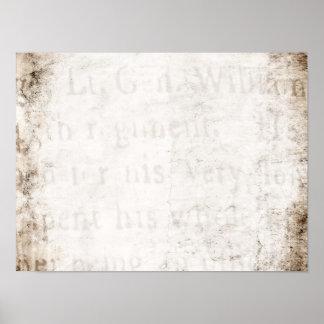 Vazio do papel de pergaminho do texto de Tan Brown Pôster