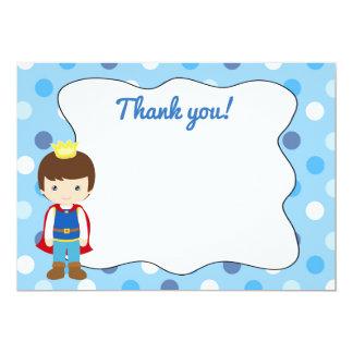 Vazio do príncipe cartões de agradecimentos