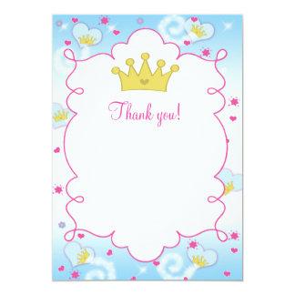 Vazio dos cartões de agradecimentos da princesa
