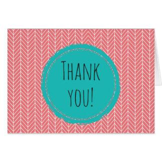 Vazio dos cartões de agradecimentos de Herringbone