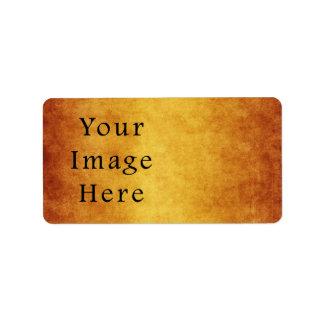Vazio envelhecido vintage do papel de pergaminho d etiqueta de endereço