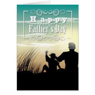 Vazio feliz do cartão do dia dos pais para dentro