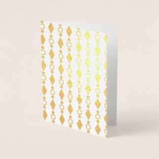 Vazio geométrico do cartão de Bling da folha de