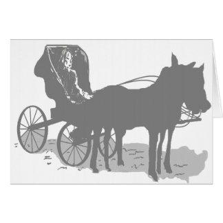 Vazio /Horse interno do cartão de nota & carrinho
