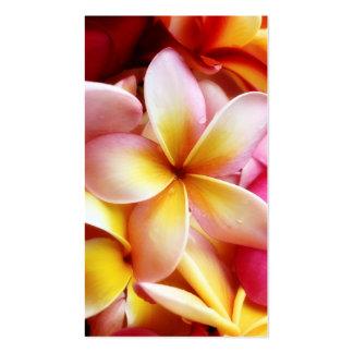 Vazio personalizado flor de Havaí do Frangipani do Modelo Cartões De Visitas