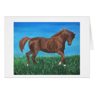Vazio Running do cartão do cavalo
