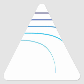 Vazios curvados da haste da haste de pesca vetor adesivo triangular