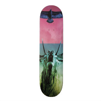 Veado e Eagle na cor Shape De Skate 18,7cm