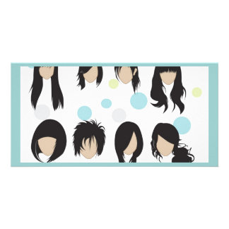 vectorvaco_09102001_hair_style cartão com foto