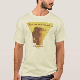 Vêem-me camisa do vintage de Bowlin