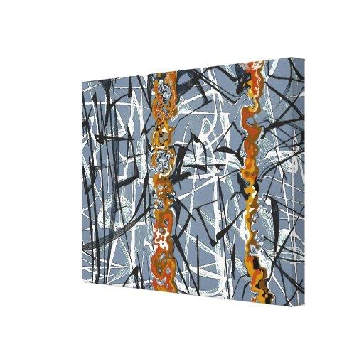 Vega - canvas abstratas impressão de canvas envolvida