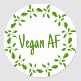Vegan AF, etiqueta do Vegan, vegetariano de