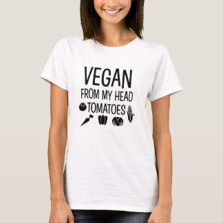 Vegan de minha camisa engraçada dos tomates