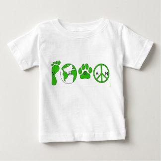 Vegan kid camiseta para bebê