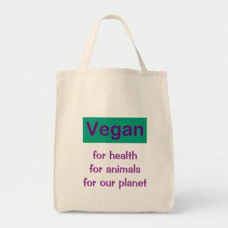Vegan: Para a saúde, os animais & o planeta Bolsa Tote
