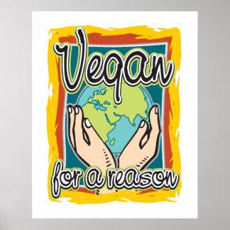 Vegan para uma razão poster