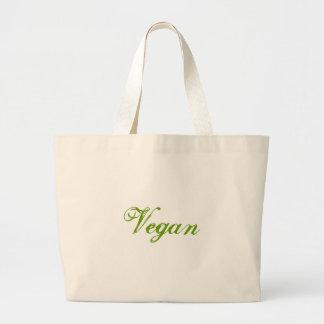 Vegan. Verde. Slogan. Costume Sacola Tote Jumbo