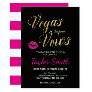 Vegas antes do convite da festa de solteira dos