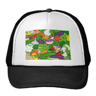 Vegetais coloridos dos desenhos animados boné