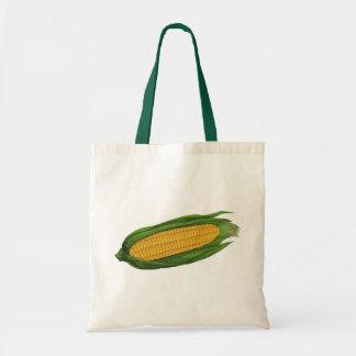 Vegetais da comida do vintage; Espiga de milho Sacola Tote Budget