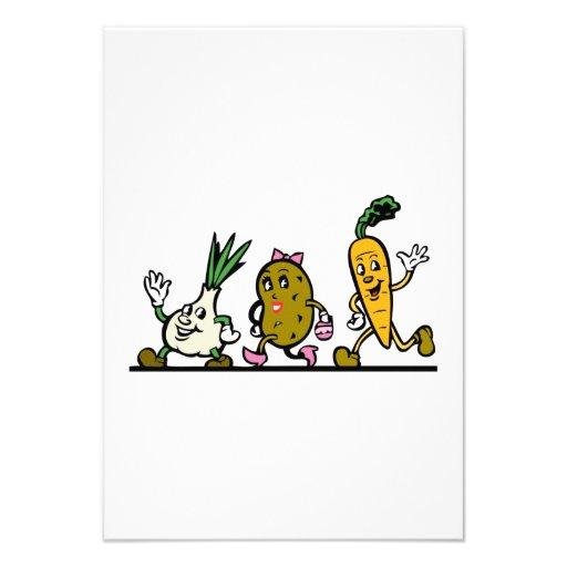 Vegetais da dança convite
