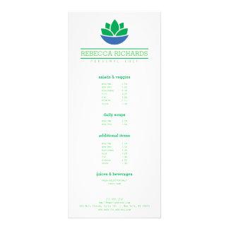 Vegetais de salada saudáveis menu de 10.16 x 22.86cm panfleto