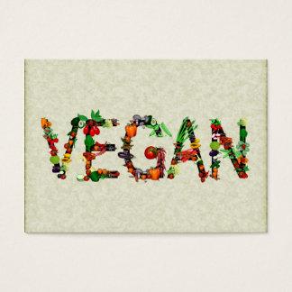 Vegetais do Vegan Cartão De Visitas