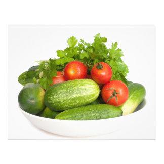 Vegetais no branco flyer 21.59 x 27.94cm