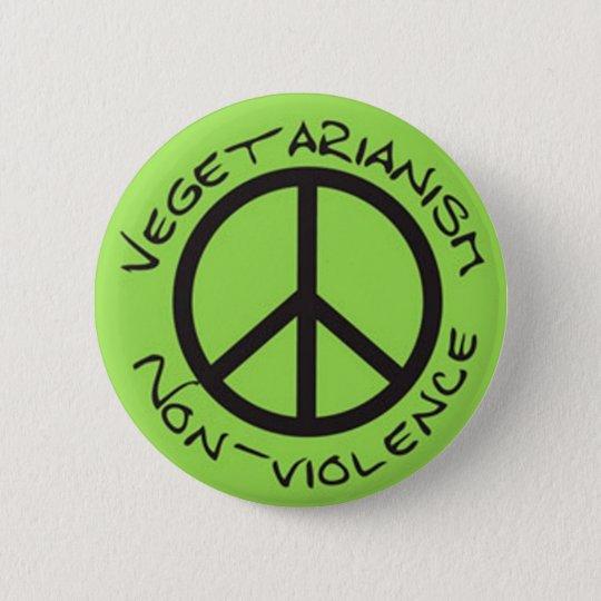 vegetarianism non-violence bóton redondo 5.08cm