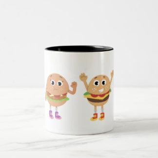 Vegetariano & caneca de café de Angus