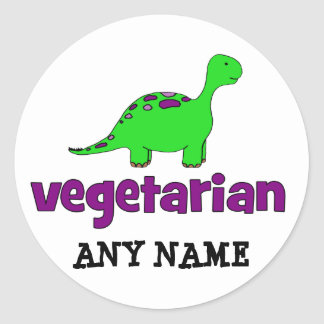 Vegetariano - design do dinossauro adesivo