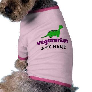 Vegetariano - design do dinossauro camisa para caes