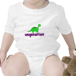 Vegetariano - design do dinossauro t-shirt